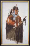 Mandeh-Pahchu, Mandan Man Art by Karl Bodmer