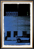 Denver, Vice City in Blue Poster by Pascal Normand
