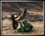 Offering to Pele, Hula Girl Poster by Alan Houghton
