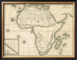 Map of Africa, c.1839 Framed Giclee Print by Samuel Augustus Mitchell