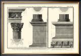 Cornice Tempio di Vesta Poster by Giovanni Battista Piranesi