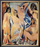 Les Demoiselles d'Avignon, c.1907 Art by Pablo Picasso