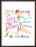 Happy Hour Cocktails Framed Giclee Print by Bradly Bowden