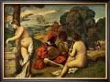 Le Concert Champetre Print by  Giorgione