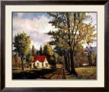House on the Rural Road Print by Pieter Molenaar