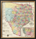 The State of Texas, c.1856 Framed Giclee Print by Jacob De Cordova