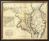 States of Maryland and Delaware, c.1796 Framed Giclee Print by John Reid