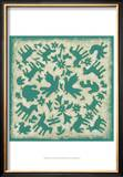 Folk Story in Jade Prints by Chariklia Zarris