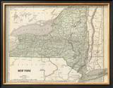 New York, c.1845 Framed Giclee Print by Sidney E. Morse
