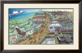 A Day at the Beach Print by BOGY (Aaron Bogushefsky) 