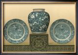 Porcelain in Teal I Art by George Ashdown Audsley
