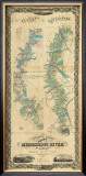 Chart of The Lower Mississippi River, c.1858 Framed Giclee Print by B. M. Norman