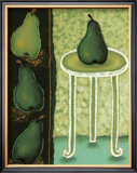 Green Pears II Posters by Monica Ibanez