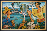 Baracoa Mural Framed Giclee Print by Charles Glover