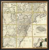 Composite: Colonie Unite dell' America Settentrle, c.1778 Framed Giclee Print by Antonio Zatta