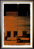 Denver, Vice City in Orange Print by Pascal Normand