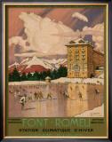 Chemin de Fer du Midi, Font-Romeu, c.1920's Framed Giclee Print by George Roux