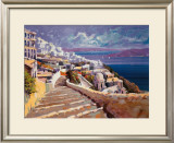 Santorini - Aegean Prints by Kerry Hallam