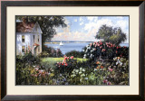 New England Garden Print by Paul Landry