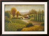 Vineyard In The Sun II Poster by Michael Marcon
