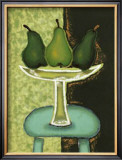 Green Pears I Prints by Monica Ibanez