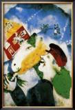 Vida rural Lámina por Marc Chagall
