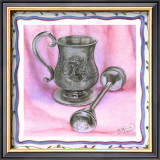 Heirloom Cup and Rattle II Print by Tara Friel