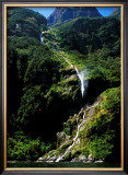 Breaking Waterfall, New Zealand Poster by Charles Glover