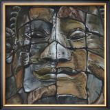 Stone Faces of Bayon, Cambodia Art by Sue Warner
