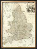 Composite: England, Wales, c.1790 Framed Giclee Print by John Rocque