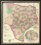 The State of Texas, c.1867 Framed Giclee Print by Jacob De Cordova