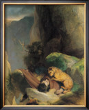 Attachment Framed Giclee Print by Edwin Landseer