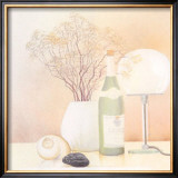 Still Life with White Lamp Poster by Heinz Hock