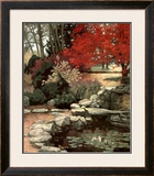 Crimson Tree Print by Barbara Hails