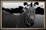 Zebra Chrome II Prints by Susann &amp; Frank Parker