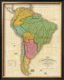 Map of South America, c.1826 Framed Giclee Print by Anthony Finley