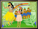 Hula Girls in Paradise Island, Hawaii Prints by Noriko Sakura