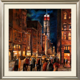 New York Night Art by Didier Lourenco