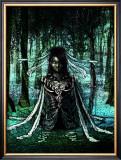 Woman in the Dark Framed Giclee Print by Kyo Nakayama