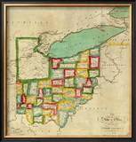 State of Ohio, c.1827 Framed Giclee Print by Robert Desilver