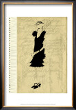 Flapper Fashion III Print by Elissa Della-piana