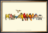 Bird Menagerie I Print by Wendy Russell