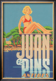 Juan Les Pins, Antibes, France Framed Giclee Print by A. Kow