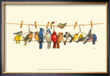 Bird Menagerie II Prints by Wendy Russell