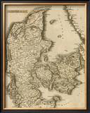 Denmark, c.1812 Framed Giclee Print by Aaron Arrowsmith