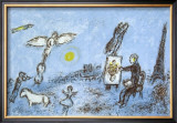 Le Peintre Et Son Double Limited Edition Framed Print by Marc Chagall