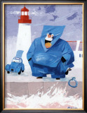 Papy Pechou au Phare Posters by Hubert Rublon