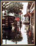 Sidewalk in Rain Posters by Zeny Cieslikowski
