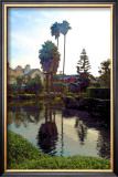 Palm Trees over Canal Framed Giclee Print by Jack Heinz