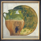 Green Potteries Print by Claudine Picard